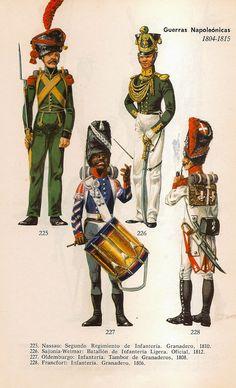 Truppe Nassau, sassoni, dell'Olembourg e della città di Francoforte durante le guerre napoleoniche