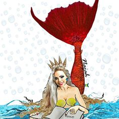Desenho de sereia! Arte de Najah. Mermaid drawing, mermaid love, mermaid illustration, art. Mirella Ferraz sereia. Sereia brasileira, cauda de sereia