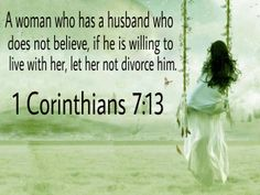 1 Corinthians 7:13 LET IS AS IF A QUESTION, MAYBE SHOULD HAVE INTERPENETRATED . SHALL INSTEAD...
