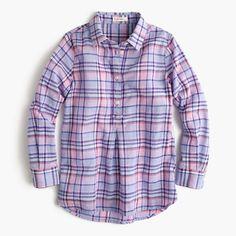J.Crew+-+Girls'+pastel+plaid+shirt