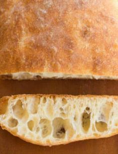 Ciabatta Bread Recipe-must start at least 8 hours-up to 24 hours before baking because it uses sponge. I see ciabatta bread in my future. Bread Bun, Bread Rolls, Rye Bread, Easy Bread, Homemade Ciabatta Bread, Homemade Breads, Think Food, Bread Machine Recipes, Sweet Bread