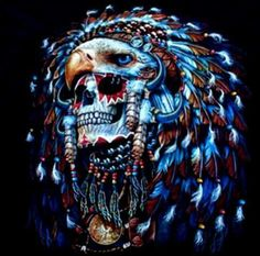 Skull eagle head dress