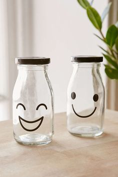 Smile Glass Bottle - Urban Outfitters