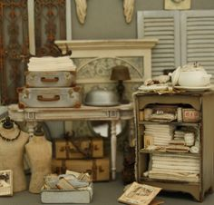 Vintage Flea Market #Puppenstubchen #Miniaturen
