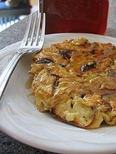 Matzo Brei: Eggs, onions, mushrooms and matzo make for an egg scramble everyone will love.