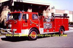 Fire Apparatus Slide Stockton CA Engine 7 1976 Seagrave CA126