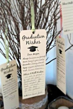 Set of 8 Graduation Party Wishing Tree Tags / Bookmark Keepsake / Wishes for the Graduate - Graduation pictures,high school Graduation,Graduation party ideas,Graduation balloons Graduation Party Planning, College Graduation Parties, Graduation Celebration, Graduation Decorations, Grad Parties, Graduation Centerpiece, Graduation Open Houses, 8th Grade Graduation, Preschool Graduation