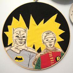 Batman & Robin, embroidered & lookin' fab.