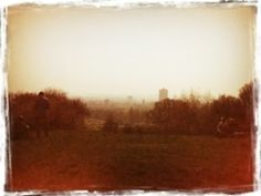 Hazy London from Parliament Hil