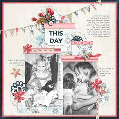 THIS DAY - Created with SOSN products from The Lilypad SOSN 50% ONE DAY SALE 23 Nov 2016 Christmas Templates by Scrapping with Liz http://the-lilypad.com/store/Christmas-Digital-Scrapbook-Templates.html Nordland Kit by Lynn Grieveson http://the-lilypad.com/store/Nordland-Kit.html