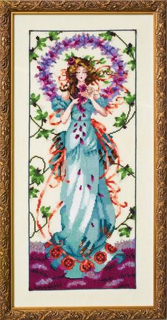Blossom Goddess - Cross Stitch Pattern