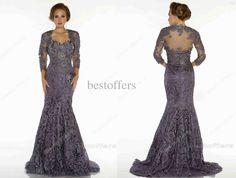 Wholesale Bride Dress - Buy 2013 Mother Of The Bride Dresses Bateau 3 4 Long Sleeves Bolero Elegent Applique Lace Mermaid Vintage Evening Dresses 8022d, $135.77 | DHgate