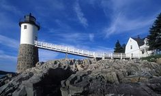Isle au Haut lighthouse in Acadia state park, Maine.                                                                                                                                                                                 More