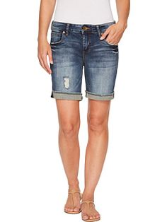 KUT from the Kloth Catherine Boyfriend Shorts in Actualize/Dark Stone Base Wash