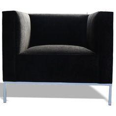 Bobby Berk Home Lacy Barrel Chair Base Color: Brushed Steel, Color: Klein Sunny