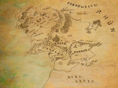 Map of middle earth lotr