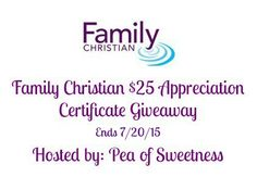 Family Christian $25 Certificate Giveaway (ends 7/20)