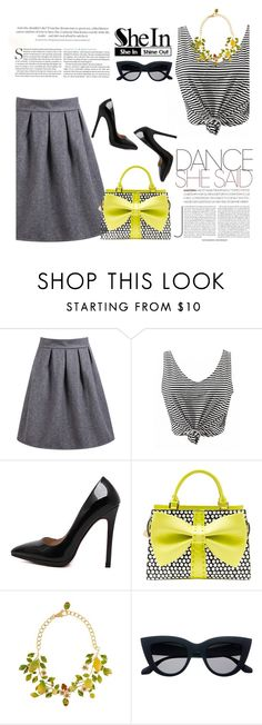 """""""Shein 9/10"""" by mell-2405 ❤ liked on Polyvore featuring Betsey Johnson and Dolce&Gabbana"""