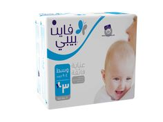 Fine Baby Premium diapers keep your baby dry and comfortable with features such as stretchy side ears, extra absorbent core and wetness indicators.
