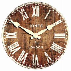 Decotown Jones London (A-3032) Duvar Saati - 30X30 cm