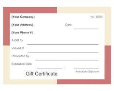 square boarder gift certificate - Smartdraw Certificate Templates