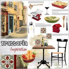 Trattoria by szaboesz on Polyvore http://szaboesz.blogspot.hu/2016/06/concept-board-italian-trattoria.html