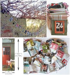 Advent Calendar with Pockets If you want to make an Advent calendar like the one above here's what you need. Materials Old magazine. Make An Advent Calendar, Old Magazines, Upcycle, Pockets, Projects, How To Make, Log Projects, Upcycling, Upcycled Crafts