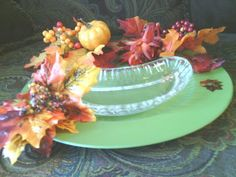 Fall festive platter with dish