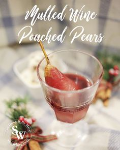 Mulled Wine Poached Pears are a super delicious and quick dessert to make and with the slow cooker can be made in advance and kept warm all day. Pear Drinks, Wine Poached Pears, Yummy Treats, Sweet Treats, Baked Pears, Quick Dessert, Slow Cooker Desserts, Mulled Wine, Desserts To Make