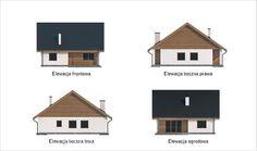 projekt domu C333b Miarodajny - wariant II - Murator projekty Houses, Architecture, Projects, Homes, House, Computer Case, Home, At Home