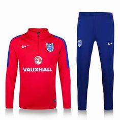 2016 England National Team Soccer Uniforms red blue