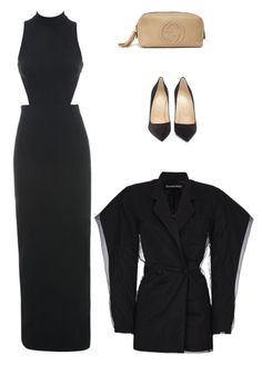"""Untitled #8086"" by amberelb ❤ liked on Polyvore featuring Y/Project and Christian Louboutin"