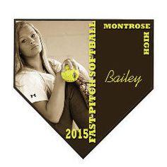 Softball home plate plaque, Baseball home plate plaque, personalized sport plaque, softball award, baseball award, record breaker award