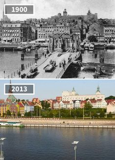 Most Kłodny, Poland, 1900 - 2013 Then And Now Pictures, Before And After Pictures, Time Travel, Places To Travel, Amazing Buildings, Strange History, Paris City, Old Building, Historical Architecture