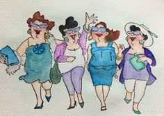 Girlfriends by Art Impressions watercolor Gansai Tambi
