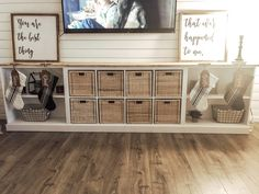 Diy cheap entertainment center furniture in 2019 Cheap Entertainment Centers, Living Room Entertainment Center, Diy Furniture Entertainment Center, Custom Entertainment Center, Entertainment Center Makeover, Entertainment Wall, Cheap Home Decor, Diy Home Decor, My New Room