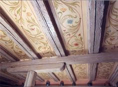 Painting on ceiling floor. Discussion on LiveInternet – Russian Service Newspapers Online by Painted Ceiling Beams, Ceiling Art, Painted Floors, Ceiling Design, Floor Murals, Wall Murals, Plafond Design, Room Paint, Paint Designs