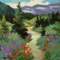 Watercolor Landscape Paintings, Landscape Artwork, Abstract Landscape, Watercolor Paintings, Fall Canvas Painting, Canvas Art, Impressionist Art, Pastel Art, Amazing Art
