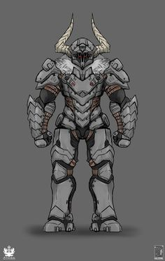 DoomSlayer and GoblinSlayer Fantasy Character Design, Character Concept, Character Inspiration, Character Art, Dnd Characters, Fantasy Characters, Armor Concept, Concept Art, Anime Meme