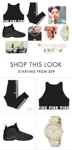 """""""SLAYYYY"""" by prvncessiycxst on Polyvore featuring Victoria's Secret, NIKE and Michael Kors"""