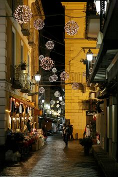 Natale a Sorrento,Italy, province of Naples , Campania Places Around The World, Oh The Places You'll Go, Places To Travel, Places To Visit, Around The Worlds, Sorrento Italy, Naples Italy, Wonderful Places, Beautiful Places