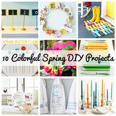Colorful Spring DIY Projects | tutorial | spring | easter | diy | diy spring crafts | diy spring decor | diy spring decorations | diy easter decor | diy easter decorations | diy easter crafts | spring decor | spring decorations | spring crafts | east decor | easter crafts | easter decorations | the house candy | house candy