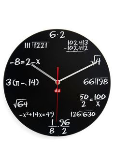 Each hour on this clock is represented by a different mathematical equation!  http://rstyle.me/n/dj6ymnyg6