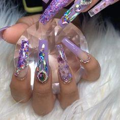 Glam Nails, Fancy Nails, Bling Nails, Trendy Nails, Nude Nails, Stylish Nails, Long Nail Designs, Acrylic Nail Designs, Exotic Nail Designs