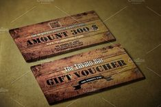 Wooden Style Gift Voucher by SoftLogic.BG on @creativemarket