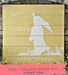 Reclaimed wood Peter Cottontail Easter Art Tutorial by Serendipity Refined