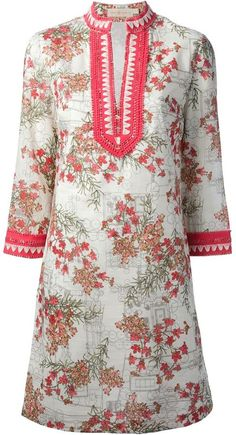 Tory Burch floral print tunic dress on shopstyle.com