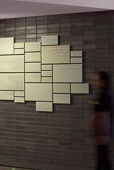 New York Hall of Science donor recognition wall