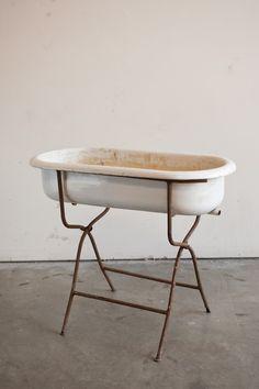 [Found Vintage Rentals: Patch Standing Tub.] drink cooler?