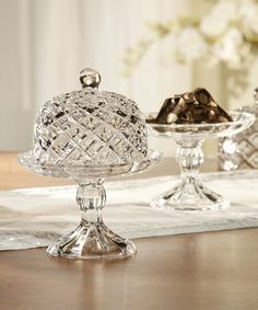 This Muirfield Pedestal Cupcake Plate & Dome is perfect! #zulilyfinds